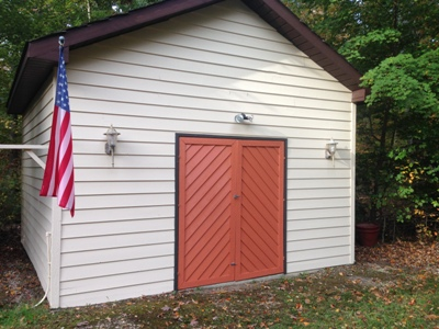 Chesapeake Property Finishes Shed Painted to Match