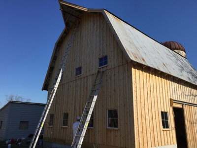 Chesapeake Property Finishes Barn Painting Experts in Maryland