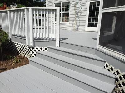 Chesapeake Property Finishes Deck Painting