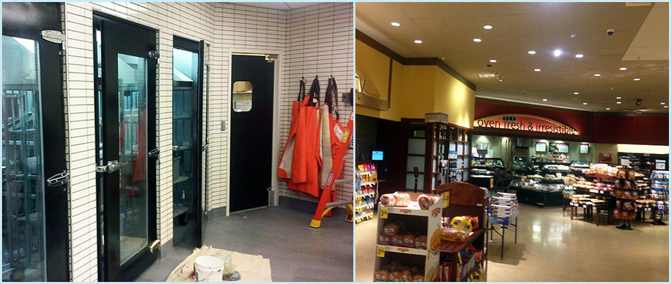 Food Service & Grocery Store Painting Specialists, Front of Store to Freezer Doors