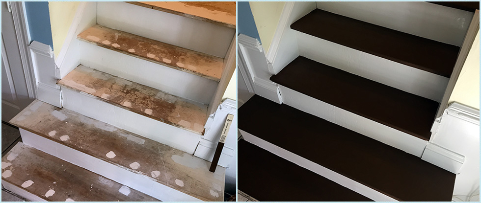 Stairs Before & After Painting